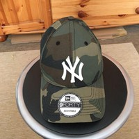 DCCK2JE New Era NY Yankees 9Forty Camo Camouflage Curve Peak Baseball Cap Hat 940