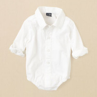 newborn - boys - solid woven bodysuit | Children's Clothing | Kids Clothes | The Children's Place