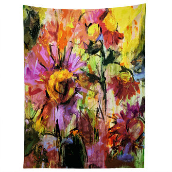 Ginette Fine Art Abstract Echinacea Flowers Tapestry