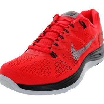 Nike Men's Lunarglide 5 Crimson Red/Gray Running Shoes 59160 600