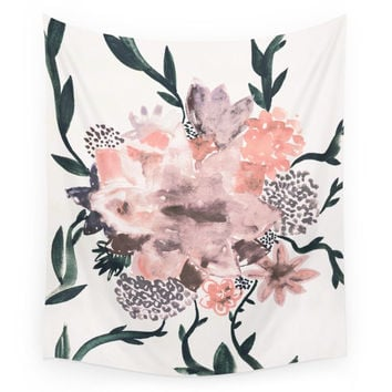 Society6 Summer Flowers Wall Tapestry