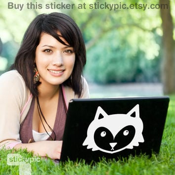 Mr Foxy (Laptop Decal Removable Vinyl Laptop Sticker Computer Decal Apple Macbook Mac Geekery Wall Sticker Moustache)