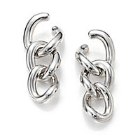 Pomellato 67 - Sterling Silver Gourmette Link Drop Earrings - Saks Fifth Avenue Mobile