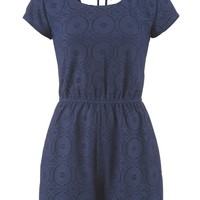 lace romper with tie back