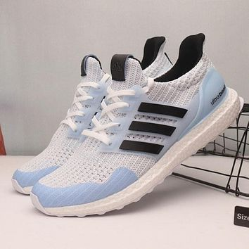 Game Of Thrones x Adidas Ultra Boost 4.0 White Walker Sport Running Shoes