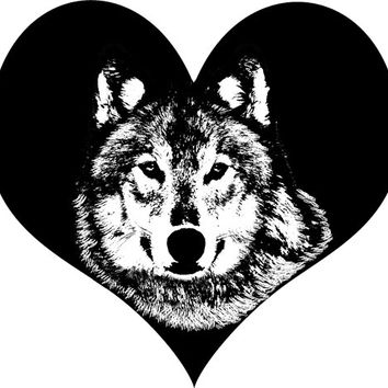 wolf black heart clipart png clip art digital stamp graphics art digital download animals wolves nature wildlife printable art