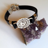 Bracelet - Horoscopes Leather Wristband - Leather Wristband - Leather Bracelet - Bracelet for Men