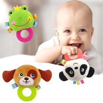 Infant Dental Care Rattle Cartoon Bell Baby Teether