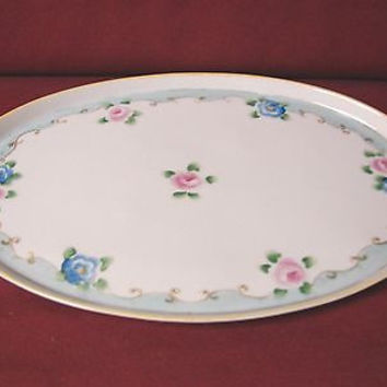 Antique Noritake Nippon, China Dinnerware Hand painted Platter/Dresser tray