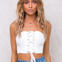 Hadid Strapless Crop Top