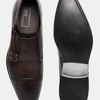 ASOS Double Monk Shoes in Leather