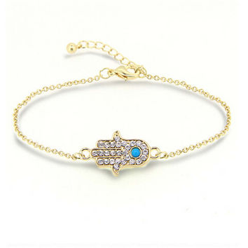 Womens Gilrs Unique Fashion Casual Gold Bracelet with Diamond Best Gift