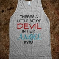 DEVIL IN HER ANGEL EYES Tank - AV's Boutique