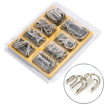 Montessori Metal Wire Puzzle Mind Brain Teaser Puzzles Game For Adults And Kids Educational Toy