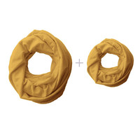 Mommy and Me Matching Infinity Scarf, mustard yellow Toddler Infinity Scarf, Mommy and Me Clothing, Choose your color!