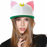 Cute Kawaii Lovely Cat Ears Hip Hop Cap