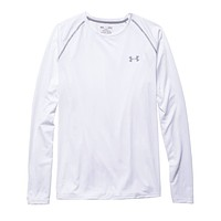 Men's UA Tech™ Long Sleeve T-Shirt in White by Under Armour - FINAL SALE