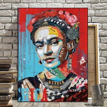 Picture Prints Artist Frida Kahlo on canvas home decor Canvas paintings Wall Art Wall poster decoration for living room no frame