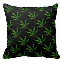 Pot Leaf Print Pillow