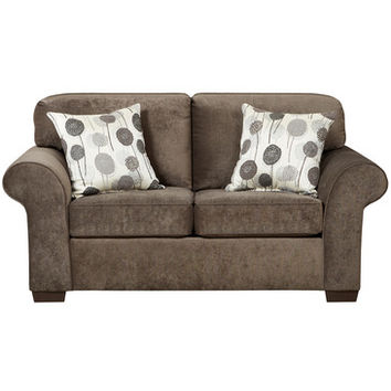 Flash Furniture Exceptional Designs Elizabeth Ash Microfiber Loveseat