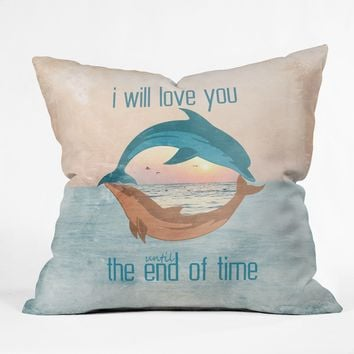 Belle13 Until The End Of Time Throw Pillow
