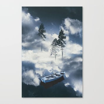 Forest sailing Canvas Print by happymelvin