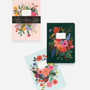 Rifle Paper Co. Garden Party Stitched Notebook Set of 3