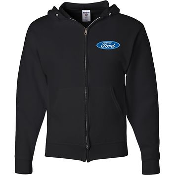 Ford Oval Full Zip Hoodie Pocket Print