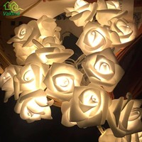 New 1.2m 10 LED Christmas Wedding Flower Rose Fairy String Lights Lamp Indoor Outdoor Decoration Christmas Decoration