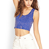 FOREVER 21 Mineral Wash Crop Top