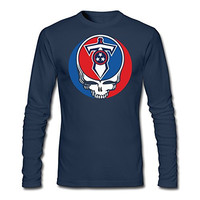 Tennessee Titans Steal Your Face Sword Tshirts Navy For Men's Long-Sleeved