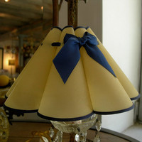 "Chandelier Clip On Lamp Shade ""Marguerite"" Parchment Mini Lampshade - Handmade in Italy"