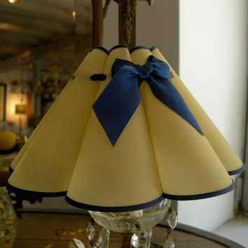 """Chandelier Clip On Lamp Shade """"Marguerite"""" Parchment Mini Lampshade - Handmade in Italy"""