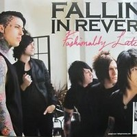 FALLING IN REVERSE 2013 fashionably late promo poster ~NEW & MINT condition~!!