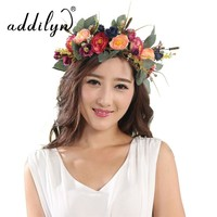 Handmade Woman Girls Artificial Flower Headband Party Wedding Silk Flowers