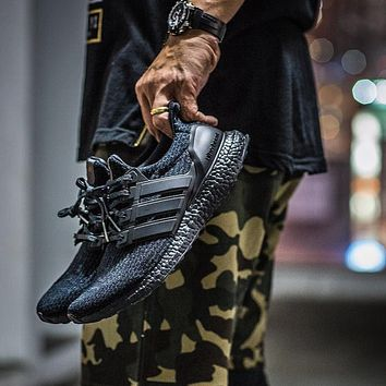 Adidas Ultra Boost 3 0 Triple Black Tmall Original