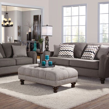 Serta Upholstery Max Ash Sofa and Loveseat