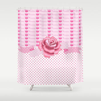 Crown Princess Rose Shower Curtain by DMiller
