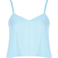 River Island Womens Light blue cami crop top