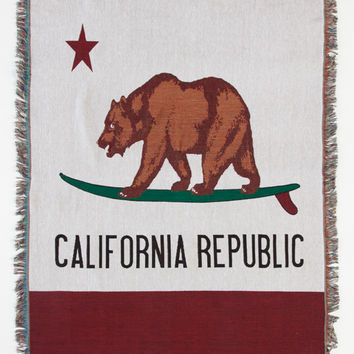 Cali Bear Tapestry Blanket | Pillows & Blankets