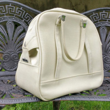 White Vintage American Tourister Bowling Bag Style Travel Tote