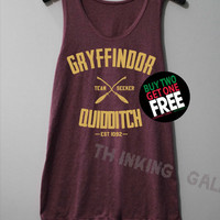 Gryffindor Quidditch Shirt Harry Potter Shirts Tank Top Tunic TShirt T Shirt Singlet - Size S M L
