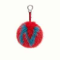 FENDI | ABCHARM N in red and light blue fur
