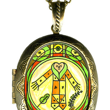 Gran Bwa Veve Healing Love & Nature Locket Pendant Empty or Solid Perfume