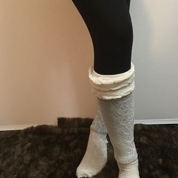Womens Knitted Boot Socks, Knit Boot Cuffs,Boot Topper, Knitted Boot Cuffs, Cute womens leg warmer
