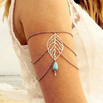 Women's Boho-chic  Leaf Shape Arm Candy