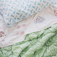Homespun Embroidered Top Sheet - Sheets - In The Bedroom - at home