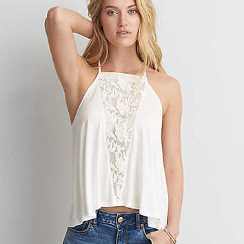 AEO Soft & Sexy Racerback Swing Tank , Cream