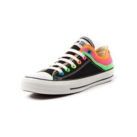 Converse All Star Fray Heel Athletic Shoe in Black/Multi | Shi by Journeys