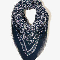 Frayed Paisley Scarf | FOREVER 21 - 1021841326